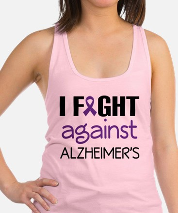 I fight Against Alzheimers Racerback Tank Top