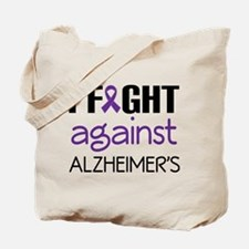 I fight Against Alzheimers Tote Bag