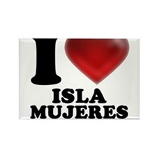 I Heart Isla Mujeres Magnets