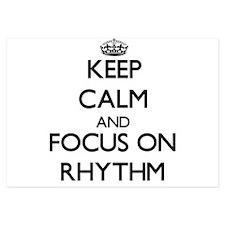 Keep Calm and focus on Rhythm Invitations