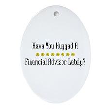 Hugged Financial Advisor Oval Ornament
