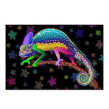 Chameleon Fantasy Rainbow Postcards (Package of 8)