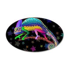 Chameleon Fantasy Rainbow Wall Decal