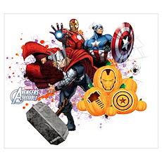 Avengers Assemble Halloween Wall Art Poster