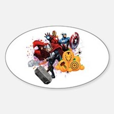 Avengers Assemble Halloween Sticker (Oval)