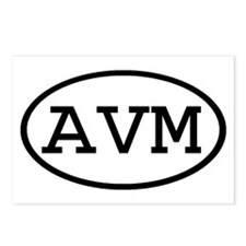 AVM Oval Postcards (Package of 8)