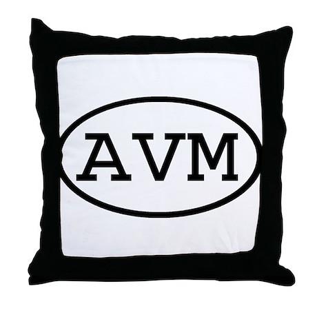 AVM Oval Throw Pillow