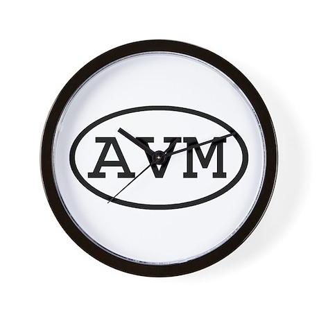 AVM Oval Wall Clock