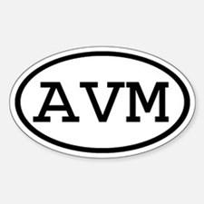 AVM Oval Oval Decal