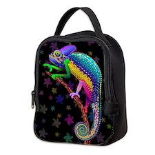 Chameleon Fantasy Rainbow Neoprene Lunch Bag