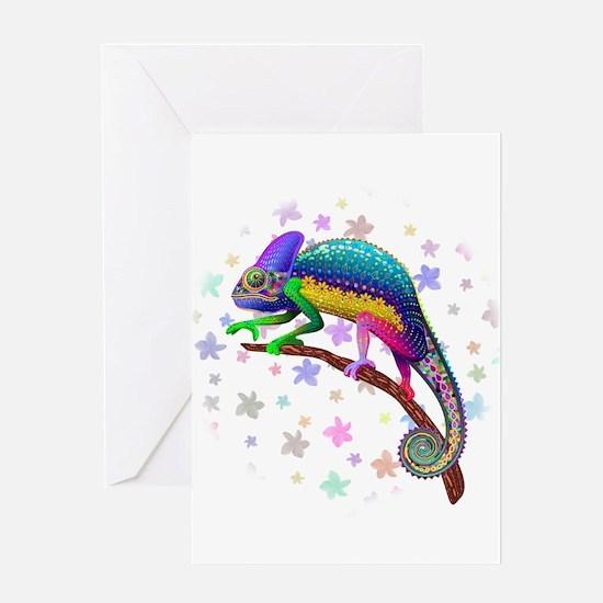 Chameleon Fantasy Rainbow Greeting Cards