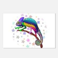 Chameleon Fantasy Rainbow Postcards (Package of 8)