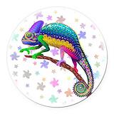 Chameleon Round Car Magnets