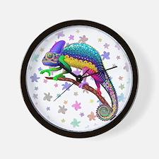 Chameleon Fantasy Rainbow Wall Clock