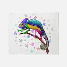 Chameleon Fantasy Rainbow Throw Blanket