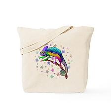 Chameleon Fantasy Rainbow Tote Bag