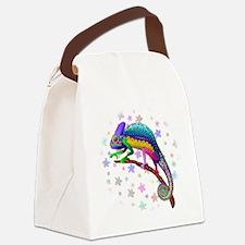 Chameleon Fantasy Rainbow Canvas Lunch Bag