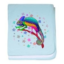 Chameleon Fantasy Rainbow baby blanket