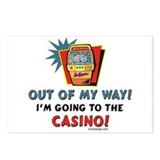Out of My Way Casino! Postcards (Package of 8)