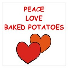 baked potato 5.25 x 5.25 Flat Cards