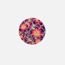 Purple hibiscus Mini Button