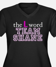 L Word Shane Women's Plus Size V-Neck Dark T-Shirt