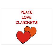 clarinet 5x7 Flat Cards