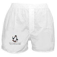 Screaming Penguin Boxer Shorts