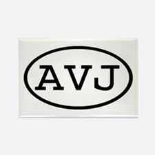 AVJ Oval Rectangle Magnet