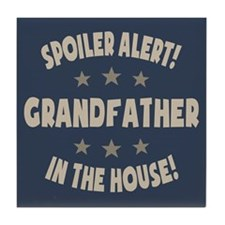 Spoiler Alert Grandfather Tile Coaster