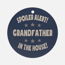 Spoiler Alert Grandfather Ornament (Round)