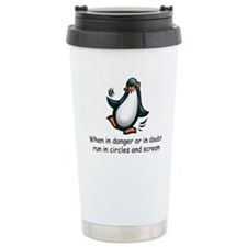Screaming Penguin Travel Coffee Mug