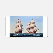 uss captain baron Aluminum License Plate