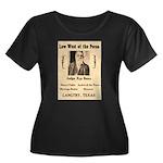 Judge Roy Bean Women's Plus Size Scoop Neck Dark T