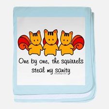 One by One The Squirrels baby blanket