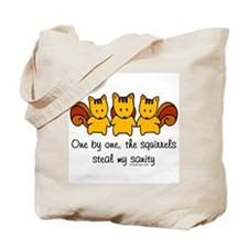 One by One The Squirrels Tote Bag