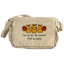 One by One The Squirrels Messenger Bag