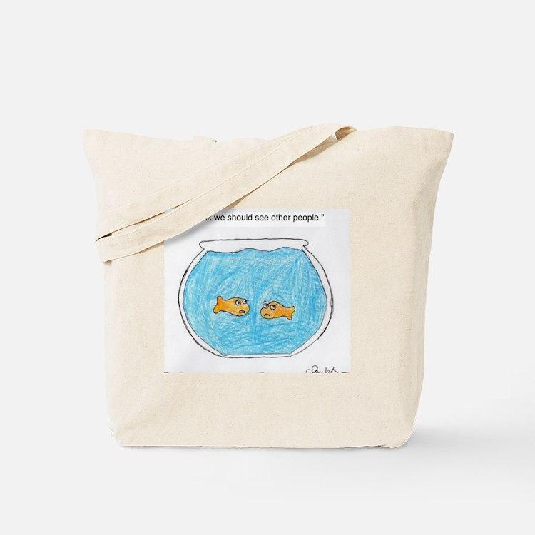 Cute Fish bowl Tote Bag
