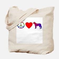 Peace, Love, ACD Tote Bag