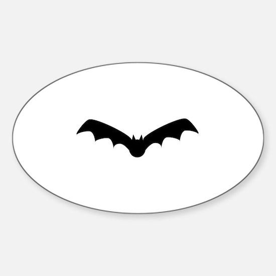 Halloween Bat Oval Decal