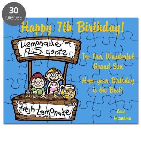 Happy 7th Birthday Card Grandson Puzzle by ItsallintheName – Birthday Card Grandson