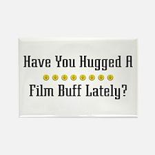 Hugged Film Buff Rectangle Magnet