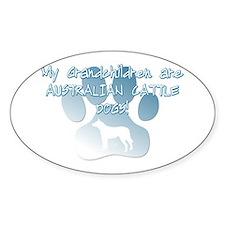 Aus Cattle Dog Grandchildren Oval Decal