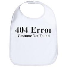 404 Error Costume Not Found Bib
