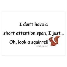 Attention Span Squirrel Invitations