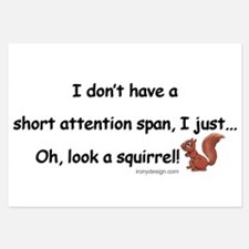 Attention Span Squirrel Invitations