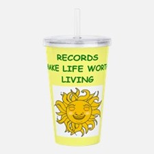 record collecting Acrylic Double-wall Tumbler