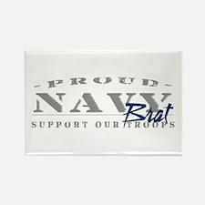 Proud Navy Brat (blue) Rectangle Magnet