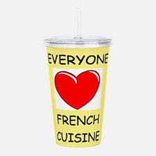 french cuisine Acrylic Double-wall Tumbler