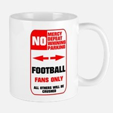 NO PARKING Football Sign Mug